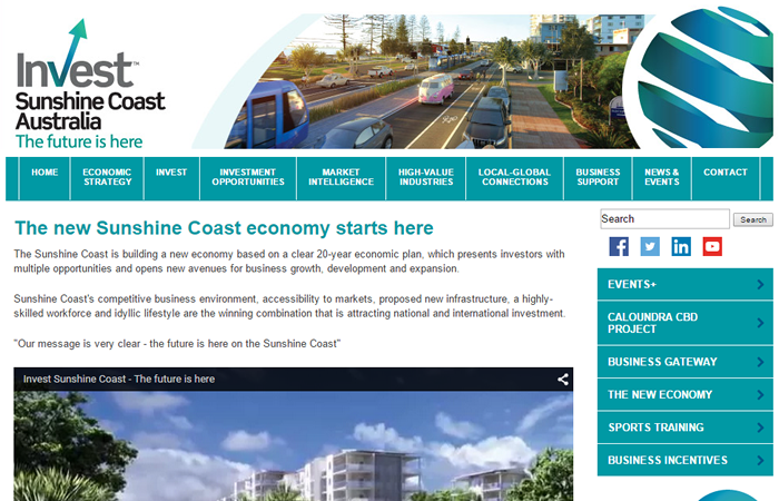 Sunshine Coast Council Business Site